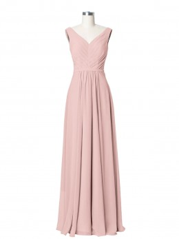 Georgia V-neck Chiffon Long Dress of Bridesmaids