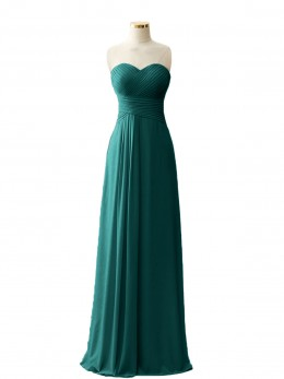 Joanne Sweetheart Chiffon Long DressES with Zipper Back