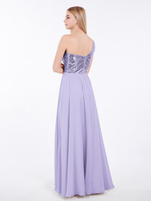 Babaroni Belle Sequins Top Chiffon Button Long Dresses