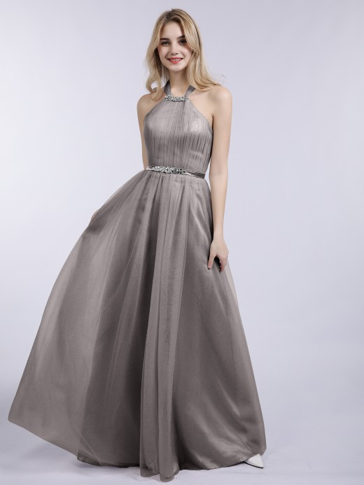 Babaroni Bonnie Tulle with Beaded Long Dresses