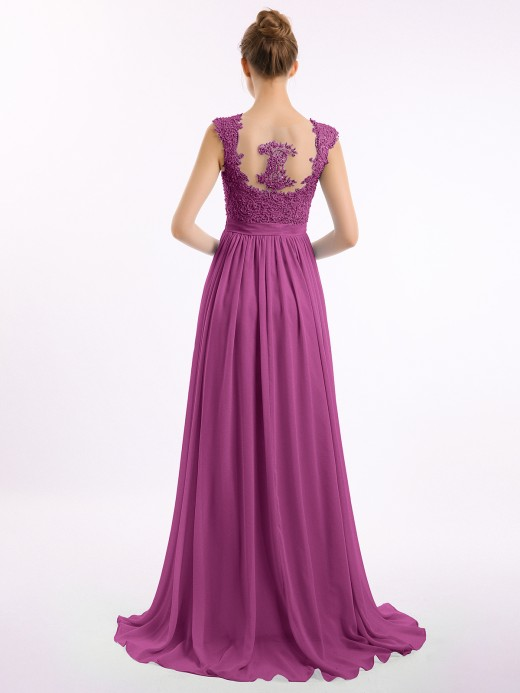 Babaroni Brook Lace Appliqued And Beaded Long Dresses