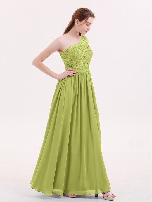 Babaroni Crystal Lace Top Chiffon Skirt Dresses with Slit