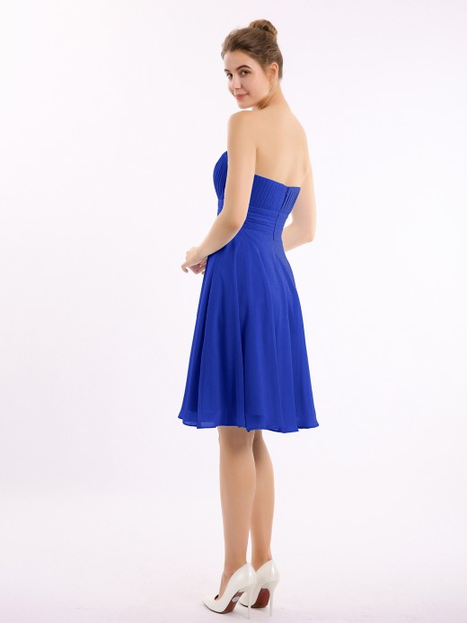 Babaroni Deirdre Short Chiffon Strapless Bridesmaid Gowns