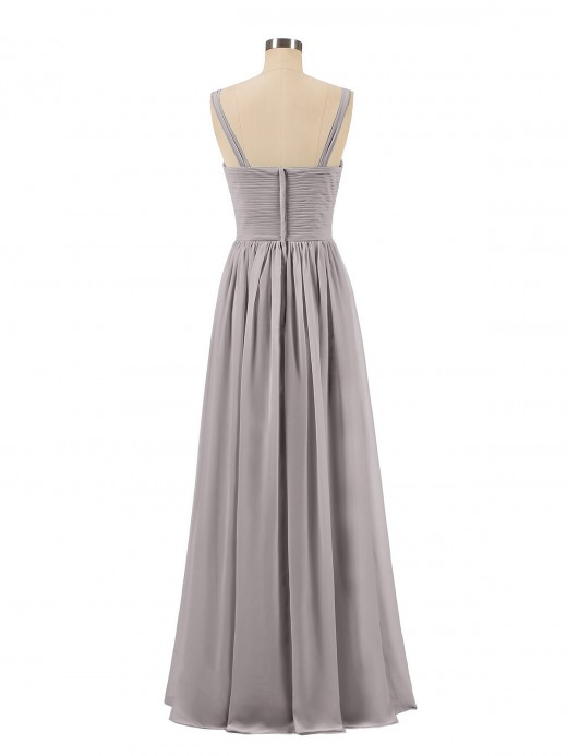 Babaroni Desdemona V neck Chiffon Long Dresses with Straps