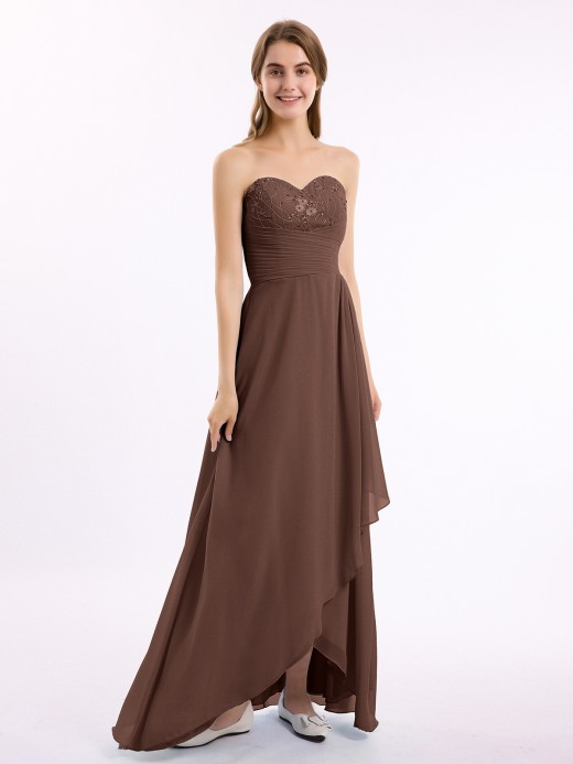 Babaroni Dominic Strapless Sweetheart Dresses with Cascade Skirt