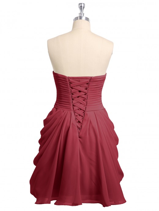 Babaroni Doreen Sweethart Mini Chiffon Dress with Corset Back