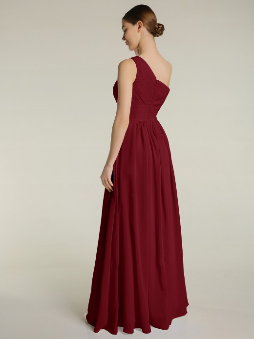 Babaroni Emily One Shoulder Long Chiffon Bridesmaid Gown