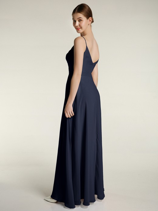Babaroni Felicia Spaghetti Strap Dress with Slit for Bridesmaid