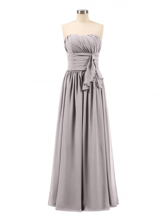 Babaroni Frederica Strapless Chiffon Full Length Gowns