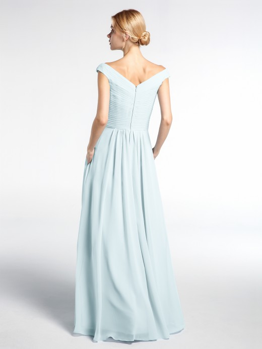 Babaroni Gladys V-neck Off shoulder Maxi Dress with Pockets