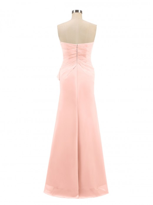 Babaroni Griselda Sheath Strapless Floor Length Chiffon Dresses