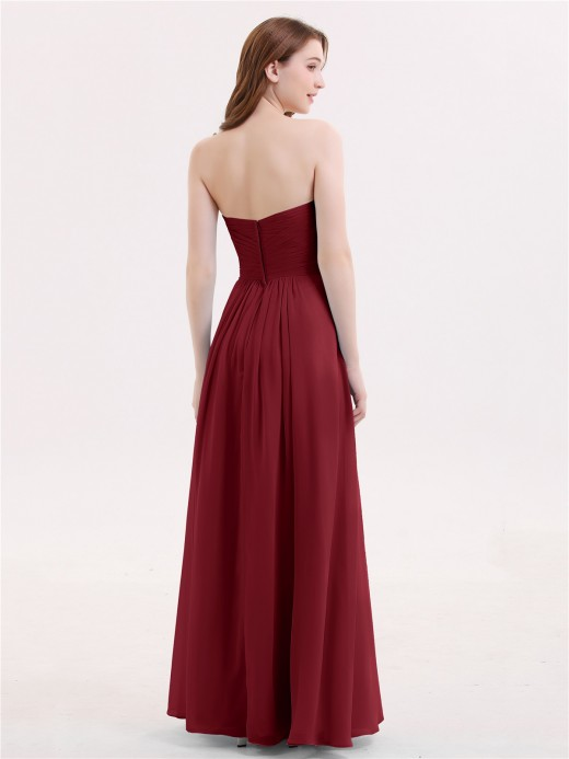 Babaroni Janice Long Chiffon Strapless Dresses with Sweetheart