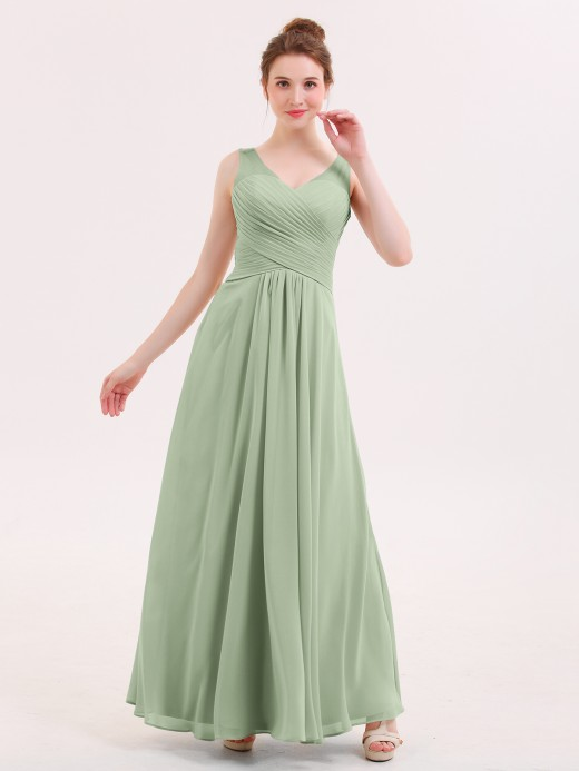 Babaroni Jenny Full Length Chiffon Bridesmaid Dresses