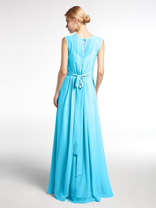 Babaroni Jessie Chiffon FAUX-WRAP Dresses with Bow