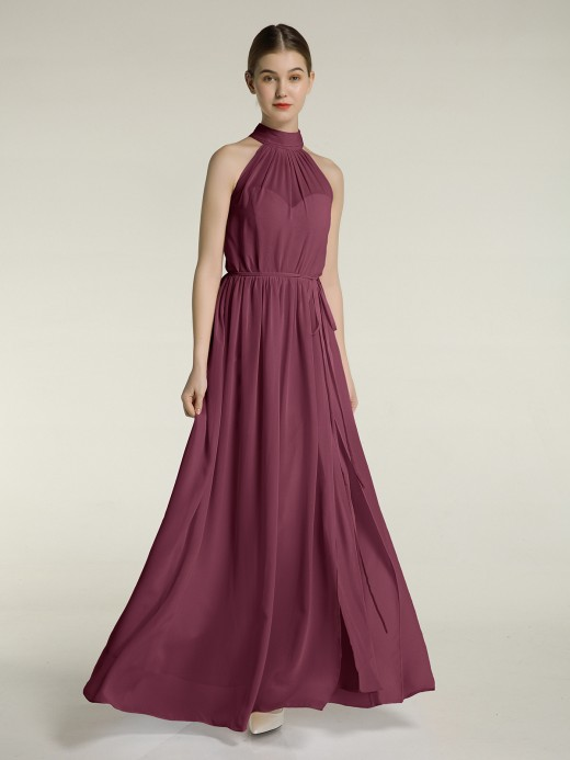 Babaroni Kimi High Neck Full Length Dress with Slit