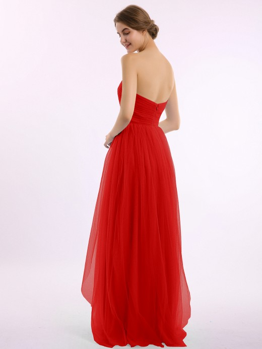 Babaroni Letitia Empire Long Tulle Gown with Sweetheart Neck