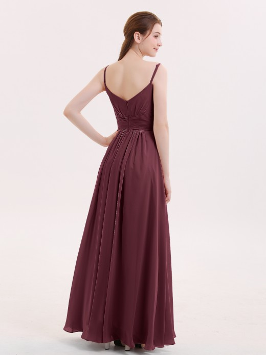Babaroni Lisa Empire Bridesmaid Gown with Spaghetti Strap