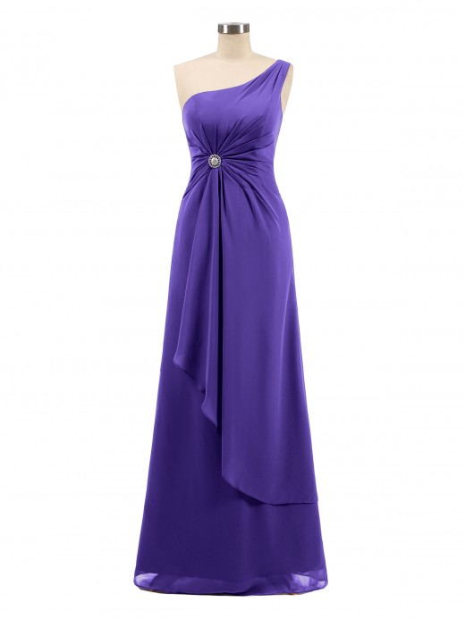 Babaroni Lorraine One Shoulder CASCADE SKIRT Chiffon Gowns