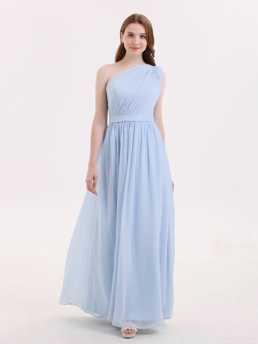 Babaroni Maggie One Shoulder Chiffon Wedding Party Dresses