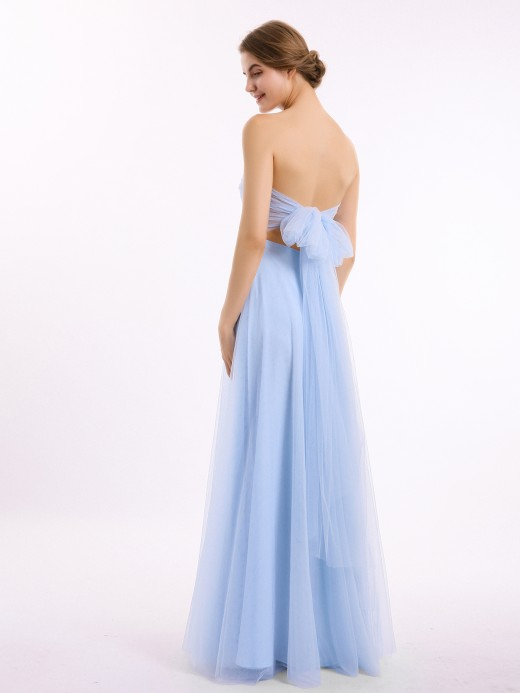 Marcia Long Strapless Tulle Gown with Sweetheart Neck UK8