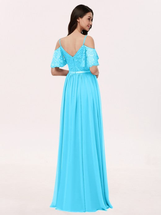 Babaroni Miranda Lace and Chiffon Full Length Dresses
