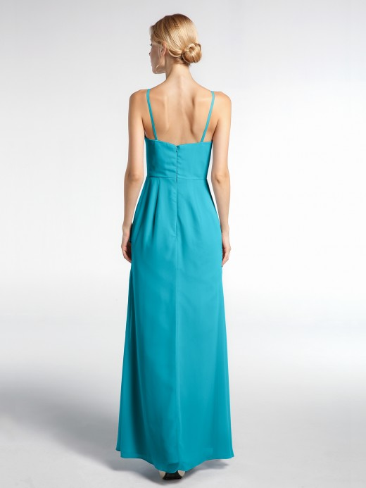 Babaroni Natalie V-neck Chiffon Simple Dress with Spaghetti Straps