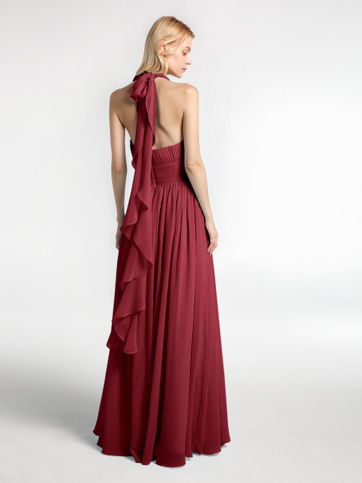 Babaroni Odelette Full Length Chiffon Maxi Bridesmaid Gowns