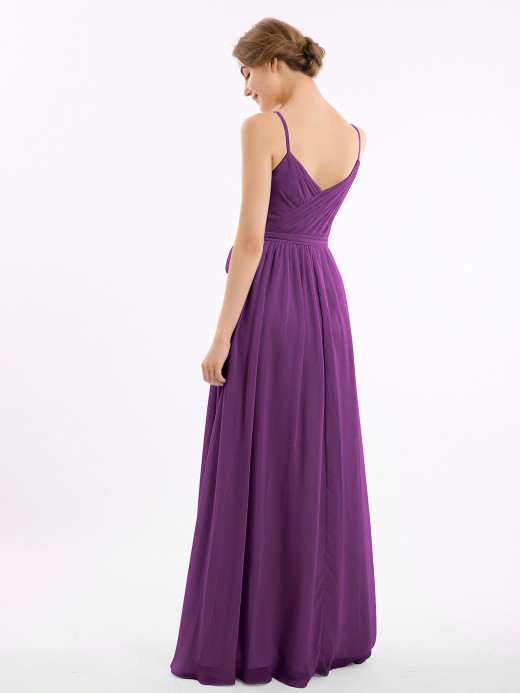 Babaroni Ruth Sweetheart Neck Chiffon Dress with Spaghetti Straps
