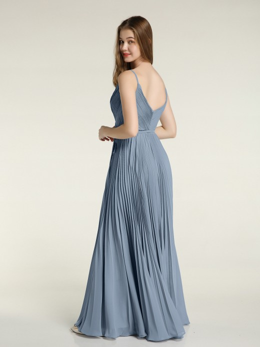 Babaroni Sera Full Pleated Skirt Chiffon Bridesmaid Dress