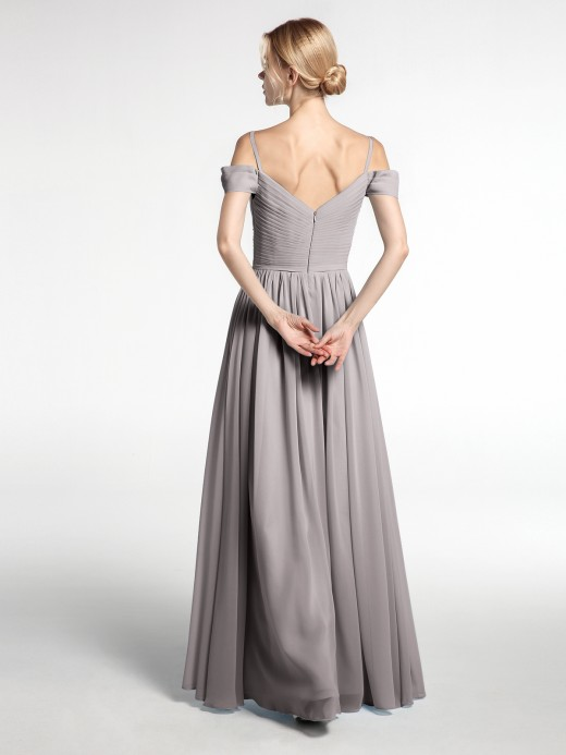 Babaroni Simona Chiffon Bridesmaid Dresses with Spaghetti Strap