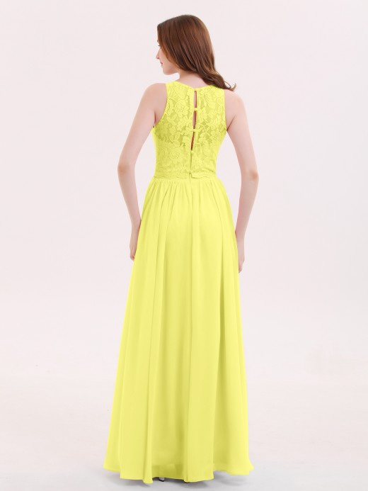 Babaroni Suzanne Illusion Neck Gowns with Lace Bodice
