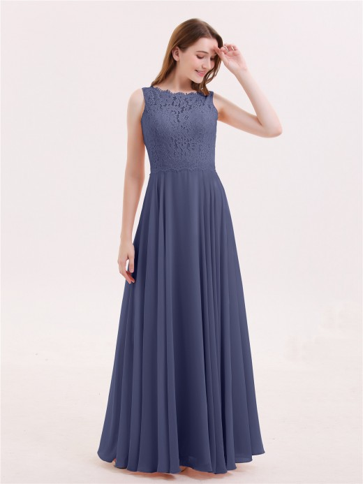 Babaroni Tabitha FuLL Length Lace and Chiffon Dresses