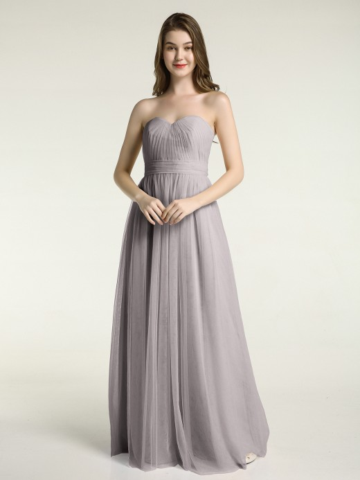 Babaroni Ula Sweetheart Neck Strapless Tulle Dress with Bow