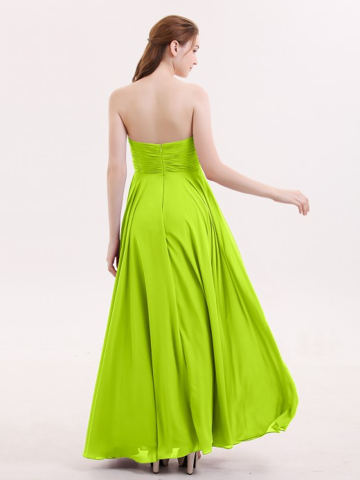 Babaroni Wendy Strapless Simple Chiffom Maxi Bridesmaid Dresses