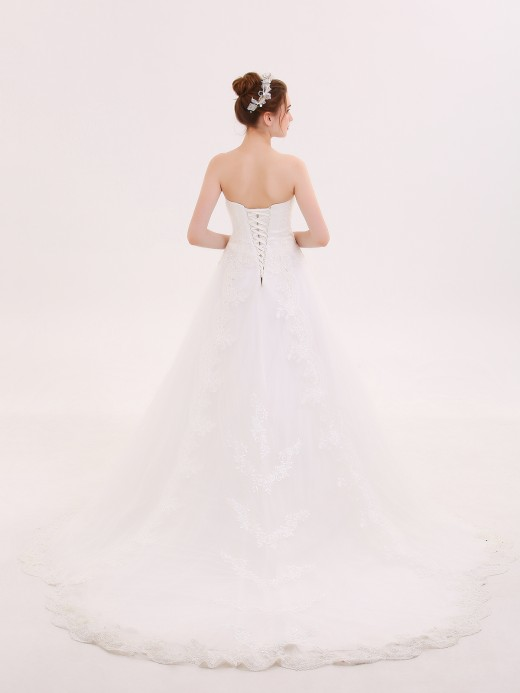 Babaroni Winni Strapless Lace and Tulle Wedding Dresses