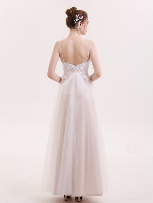 Babaroni Andrea Spaghetti Strap Simple Bridal Dresses