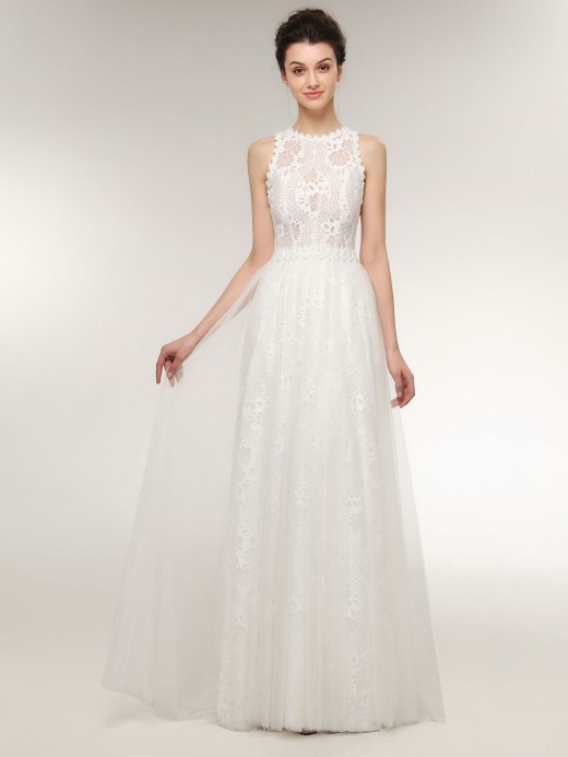 Babaroni Catherine Lace Boho Wedding Dresses with Beaded Waist