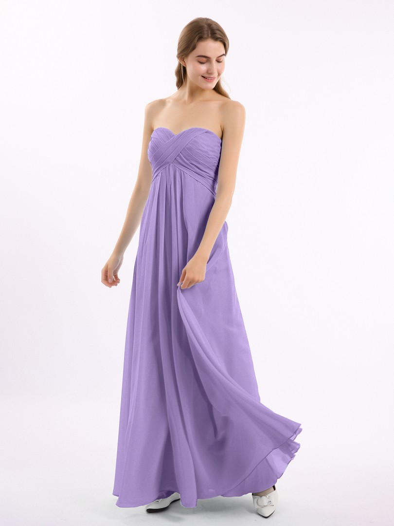 A-line Chiffon Cabernet Zipper Side Ruched, Pleated Floor-length Sweetheart Sleeveless Bridesmaid Dresses Under 100