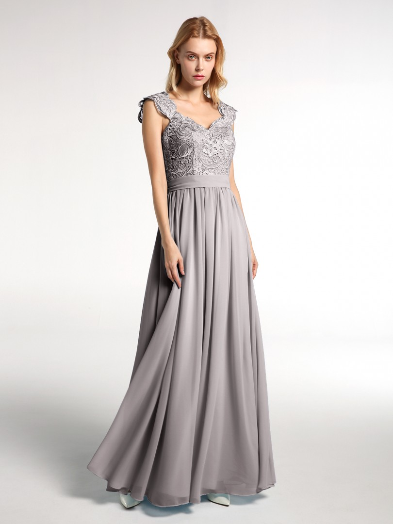 A-line Chiffon Mint Green Zipper Side Appliqued, Pleated Floor-length Scoop Sleeveless Long Bridesmaid Dresses